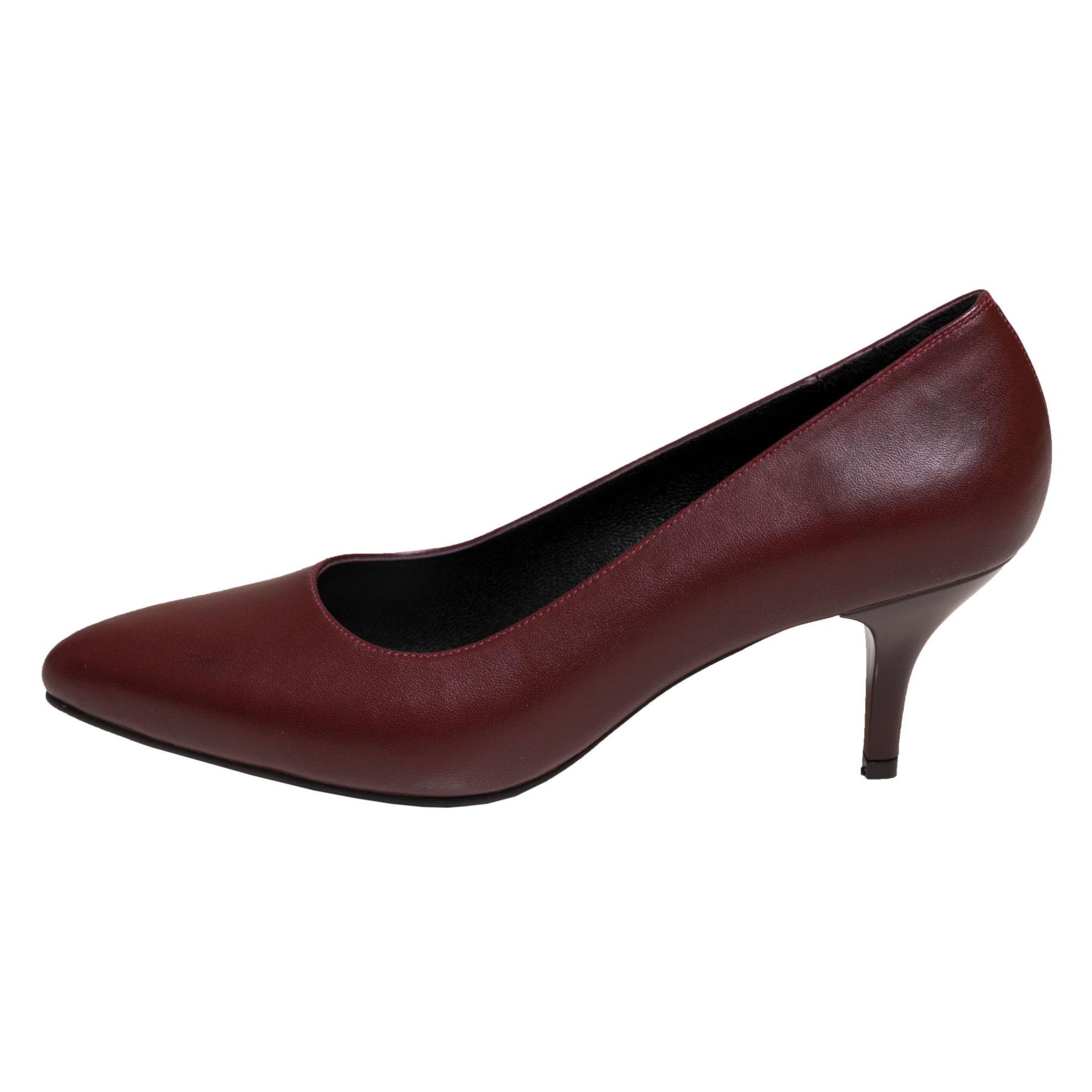 کفش پاشنه دار زنانه سی سی مدل سوفیا رنگ زرشکی