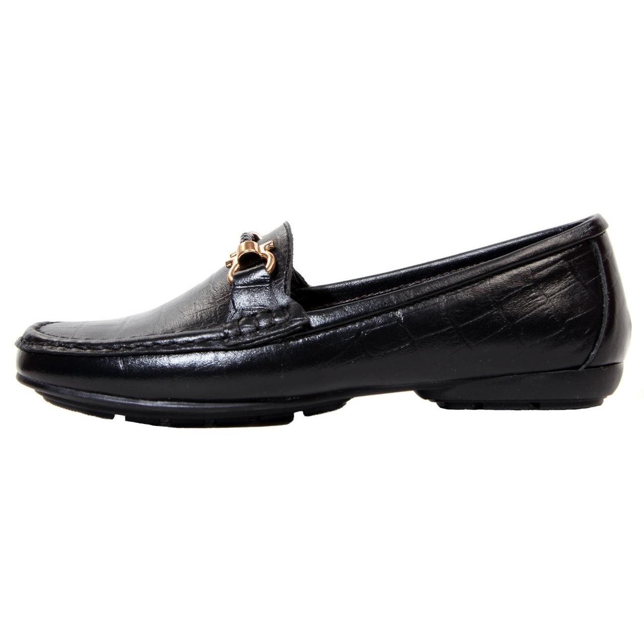 کفش زنانه چرم مدل FR01 طرح فراگامو                     غیر اصل