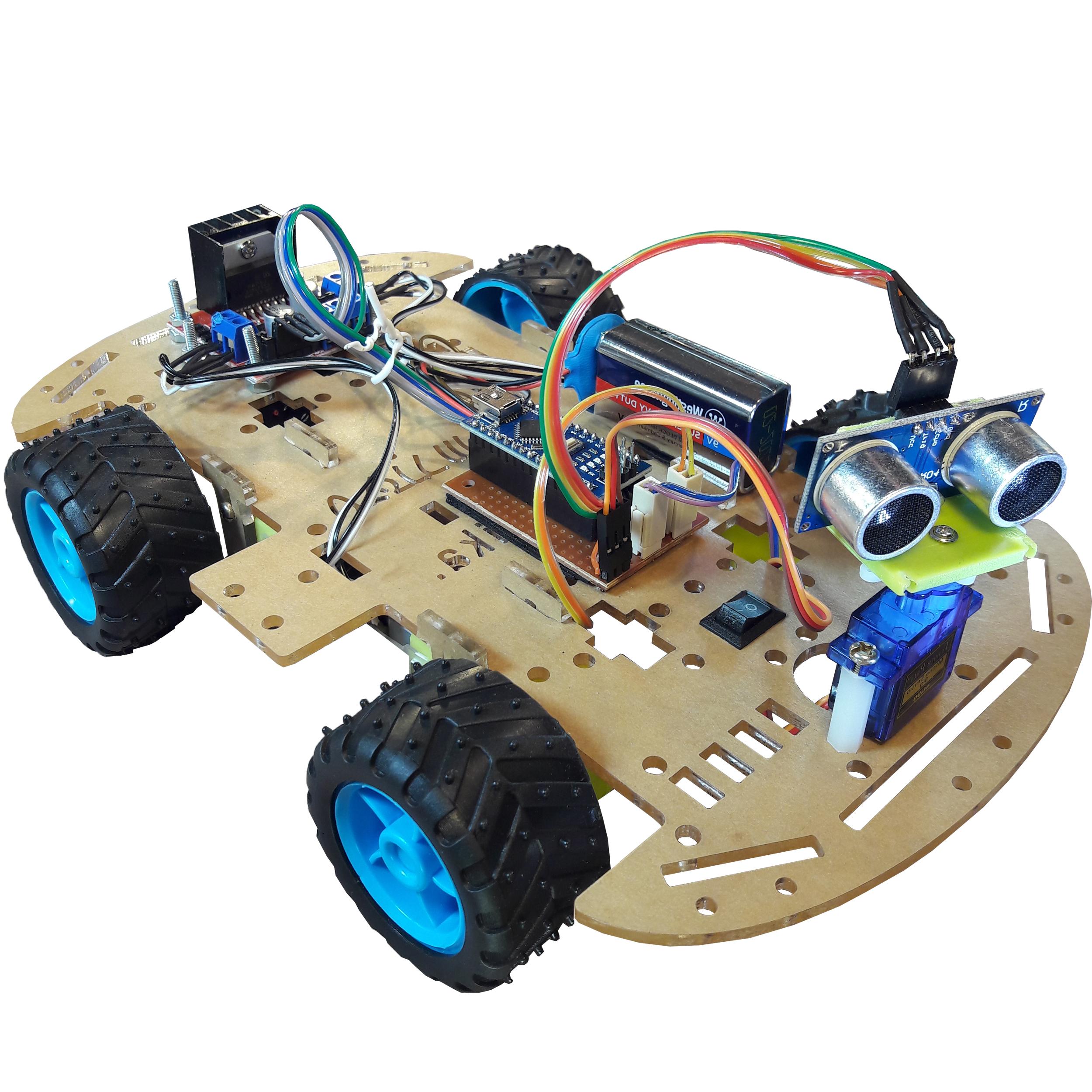 ربات تشخیص مانع مهندسیکا مدل 4W-M40