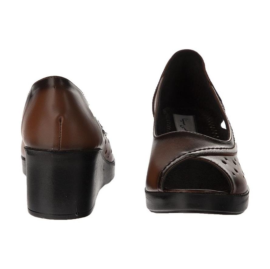 کفش نه طبی سینا مدل مهتاب رنگ عسلی