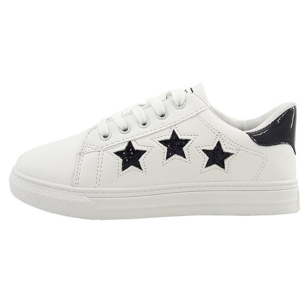 کفش راحتی زنانه اسپرت مدل 3stars.wh-bl-001