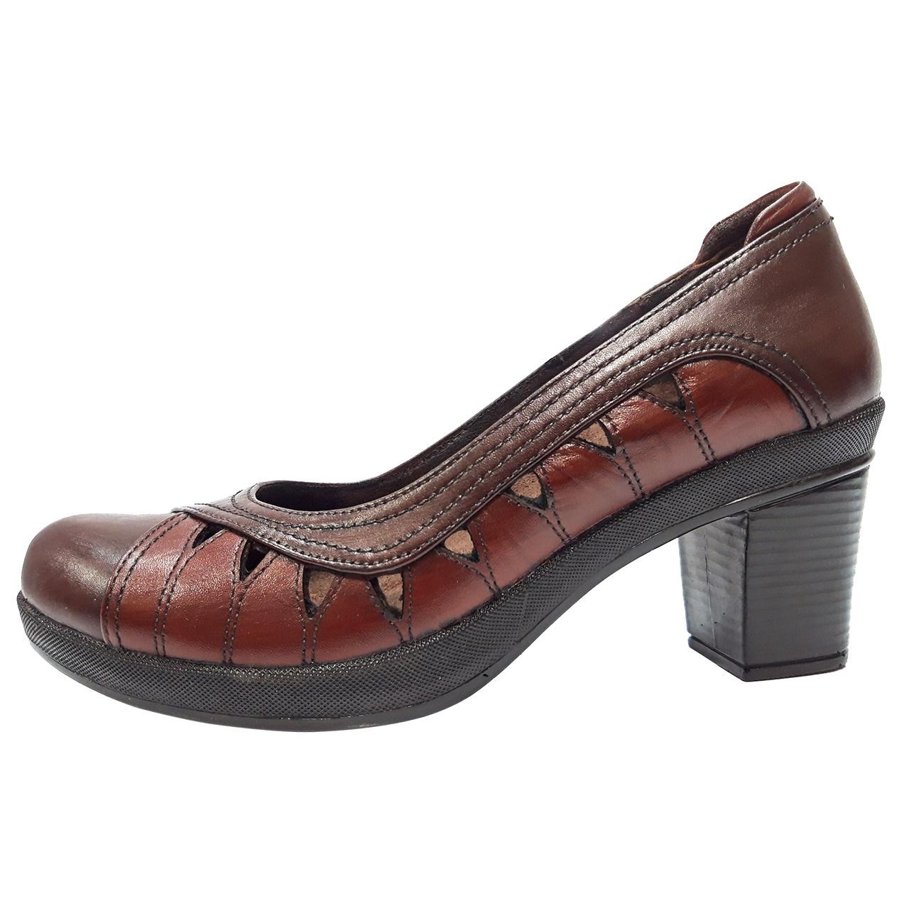 خرید                      کفش زنانه روشن مدل پانلی کد 02