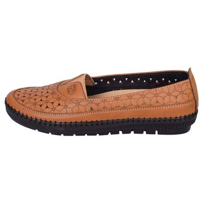 تصویر کفش زنانه کد 2956 رنگ عسلی