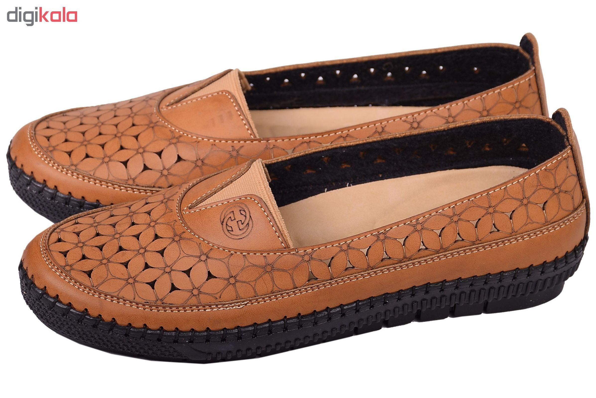 کفش نه کد 2956 رنگ عسلی