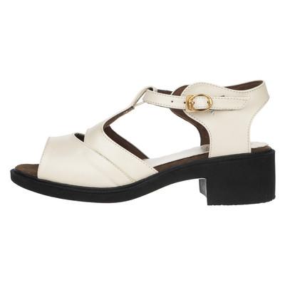 تصویر کفش زنانه ونوس مدل سیمین رنگ کرمی