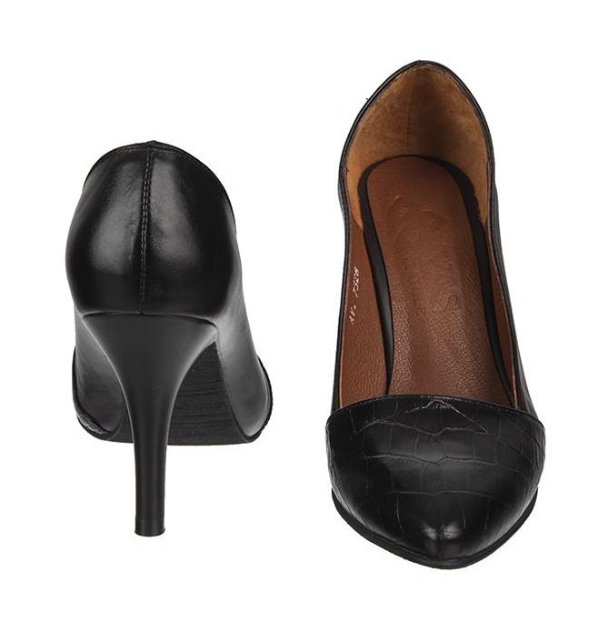 کفش زنانه چرم یاس مدل ساتا کد 0014