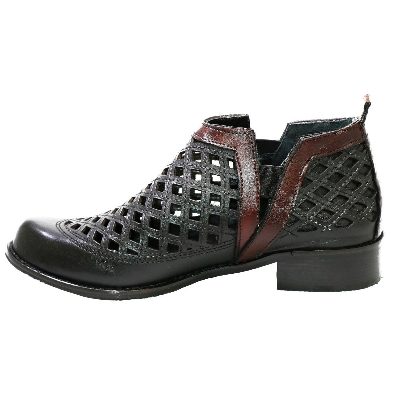 کفش نه ماهین چرم کد 201