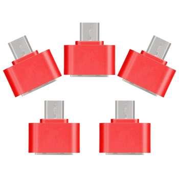 مبدل USB به microUSB کد pe02 بسته 5 عددی