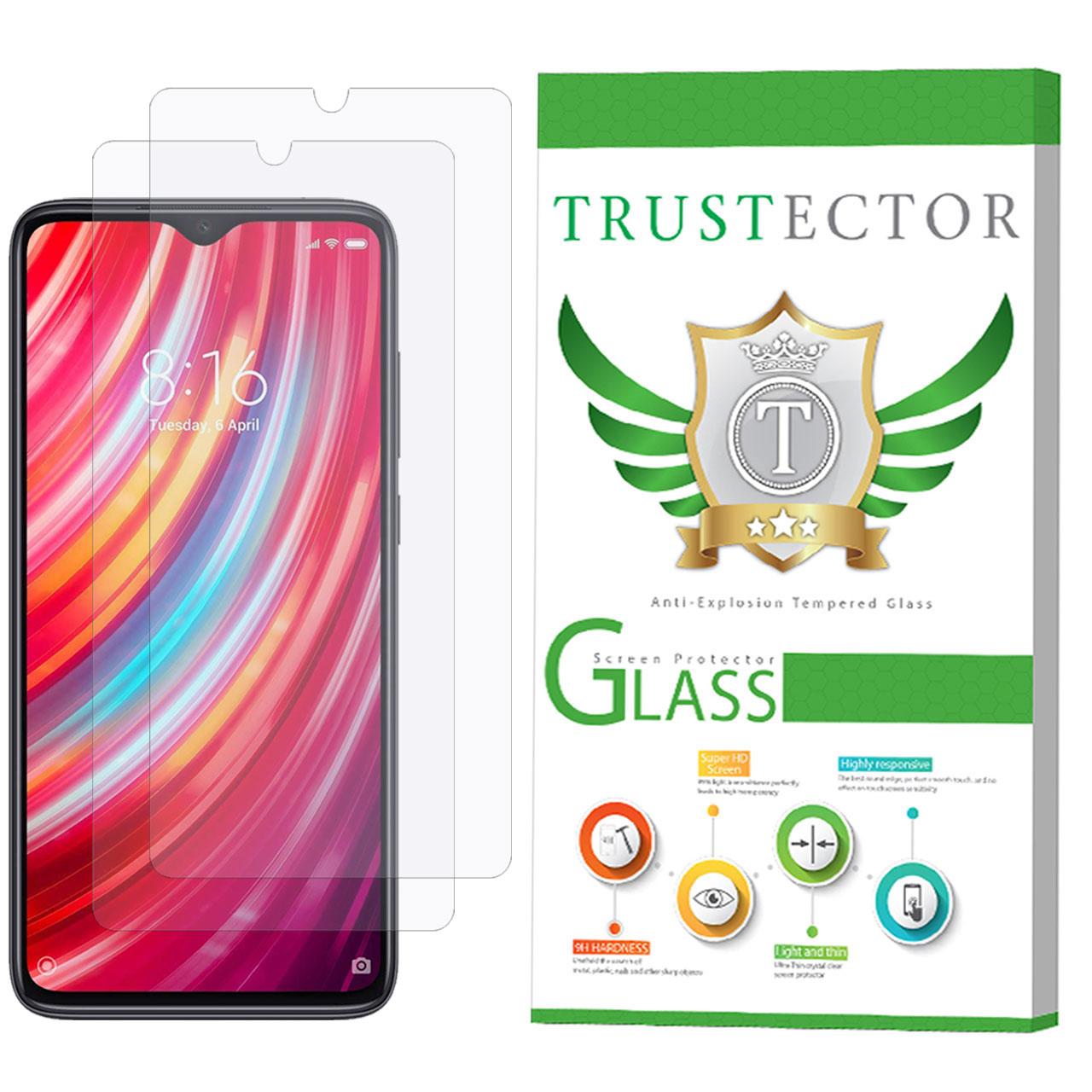 محافظ صفحه نمایش تراستکتور مدل GLS مناسب برای گوشی موبایل شیائومی Redmi Note 8 Pro بسته 2 عددی
