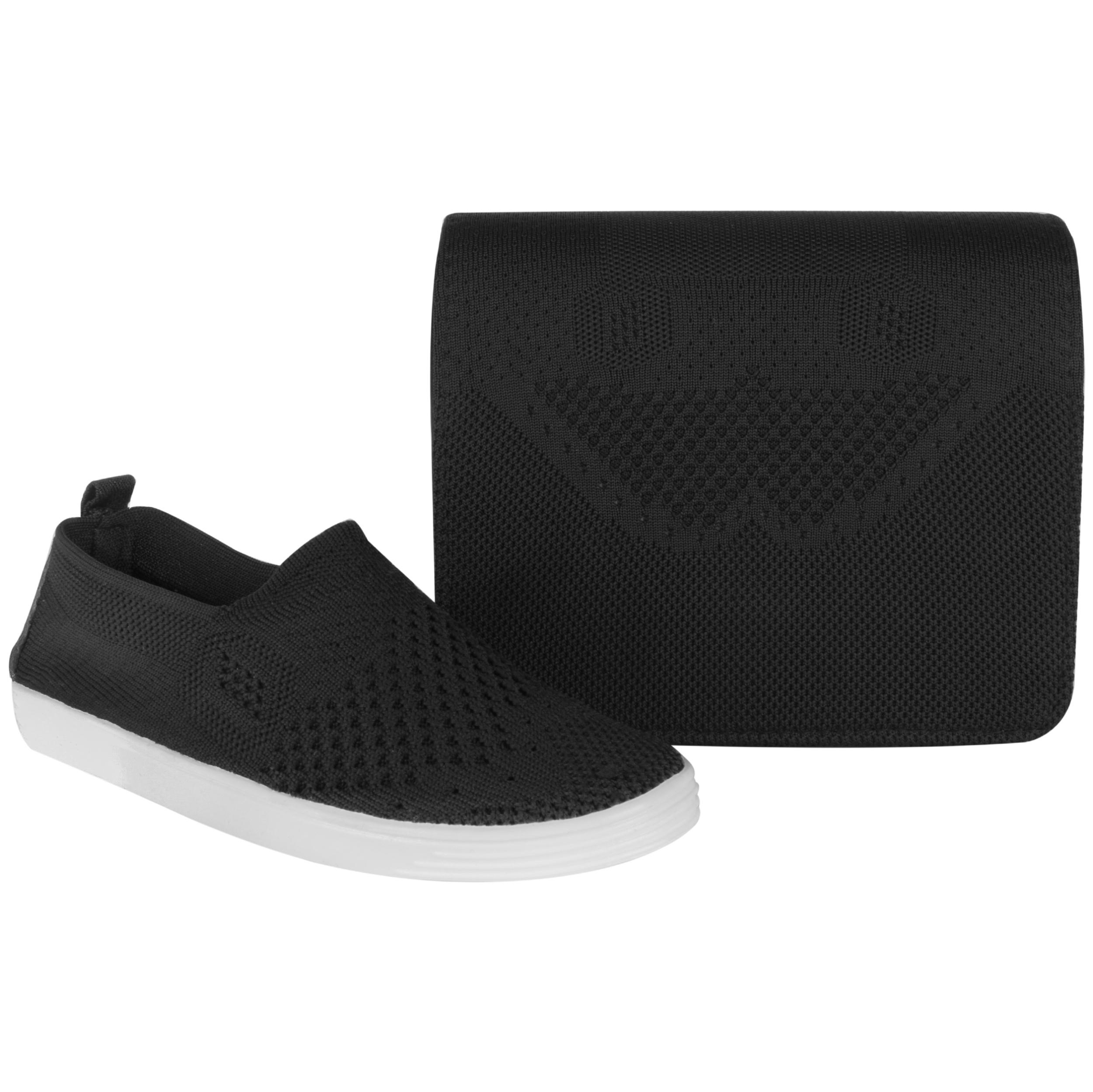 ست کیف و کفش زنانه کد BFT01-BL