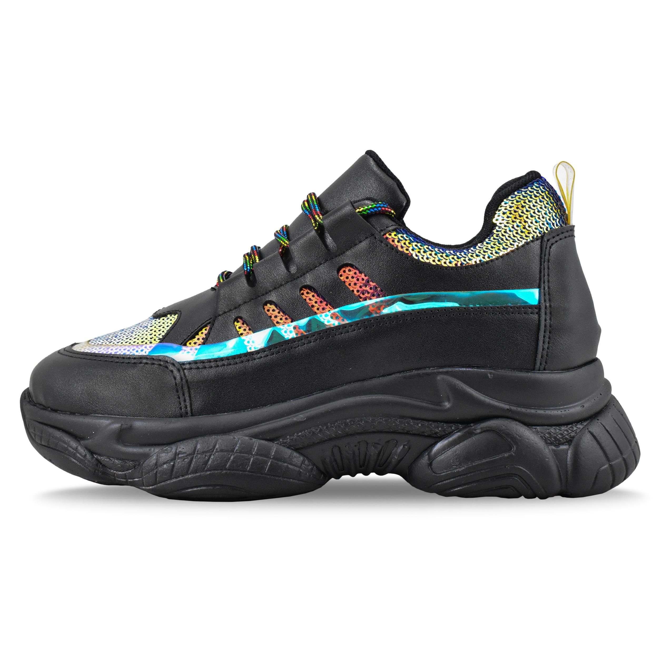 کفش مخصوص پیاده روی زنانه مدل رنگین کمان کد 4481