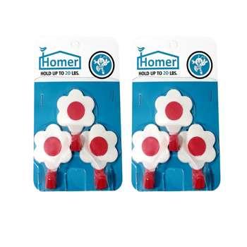 قلاب آویز هومر مدل گل مجموعه 6 عددی