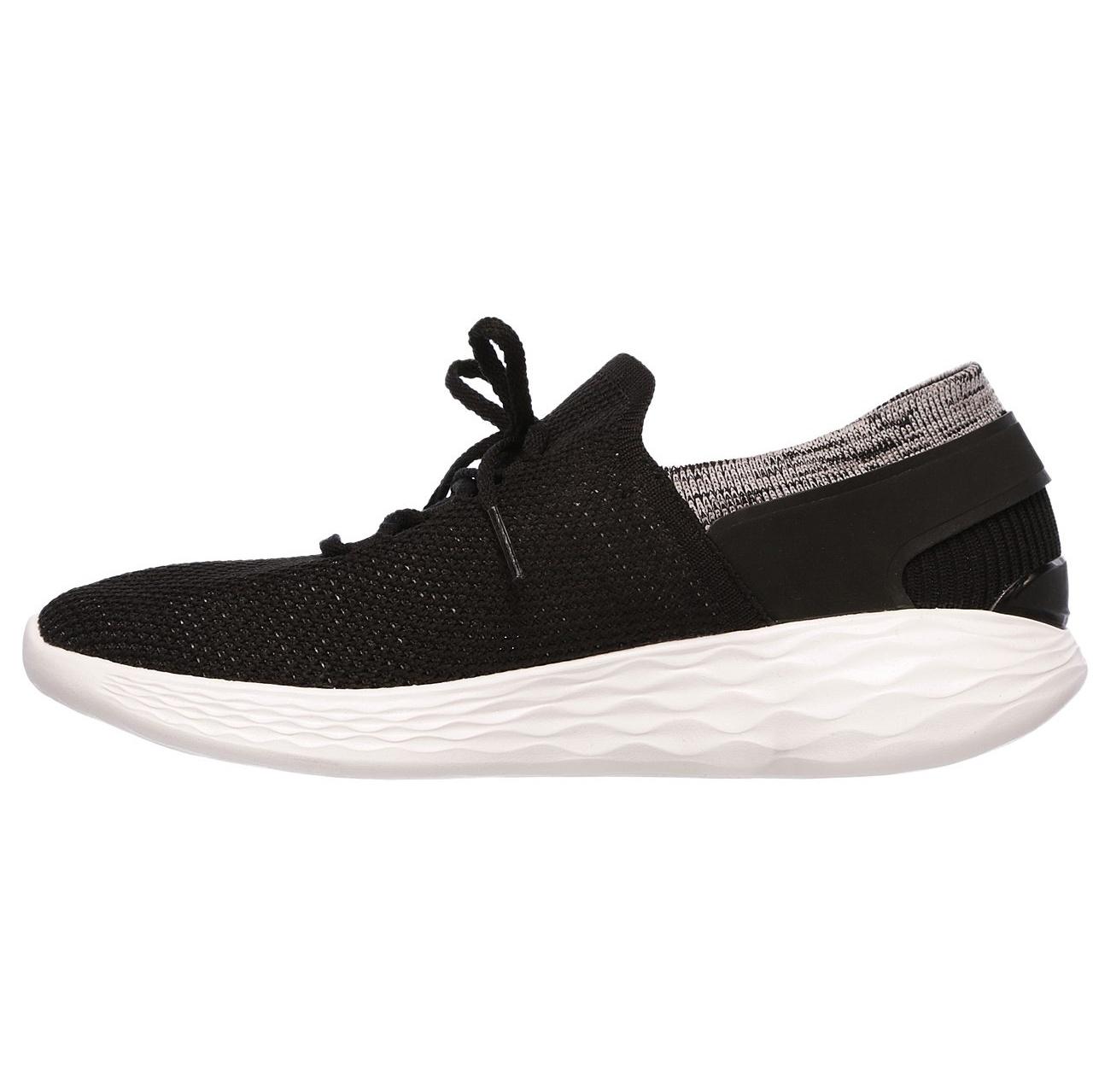 کفش مخصوص پیاده روی زنانه اسکچرز مدل MIRACLE 14960 BKW