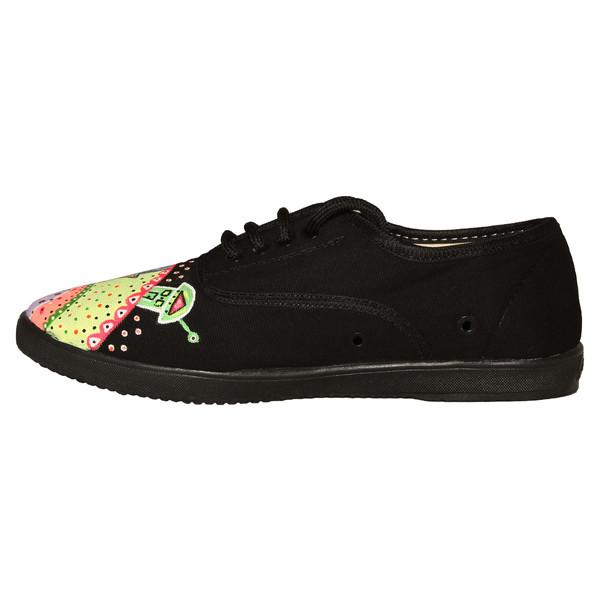 کفش روزمره زنانه طرح کلبه پله پوش کد BK01