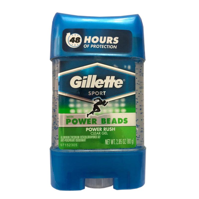 ژل شفاف ضد تعریق مردانه ژیلت مدل Power Beads Power Rush حجم 75 میلی لیتر