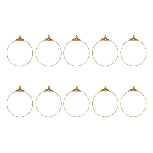 حلقه گوشواره نمدیکا کد sall010 بسته 10 عددی