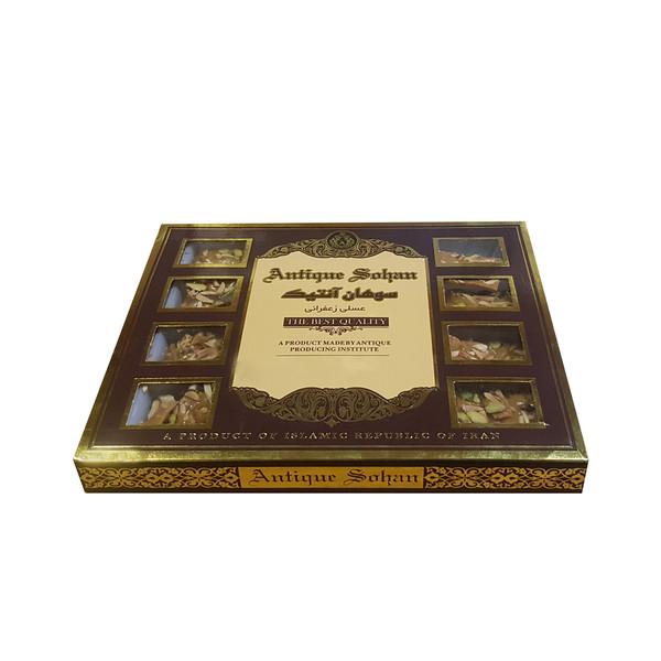سوهان عسلی زعفرانی آنتیک مقدار ۳۰۰ گرم