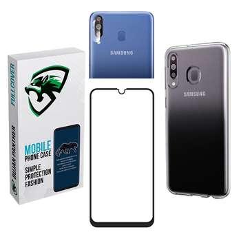 کاور مدل bjnk مناسب برای گوشی موبایل سامسونگ galaxy a20s به همراه محافظ صفحه نمایش و محافظ لنز دوربین