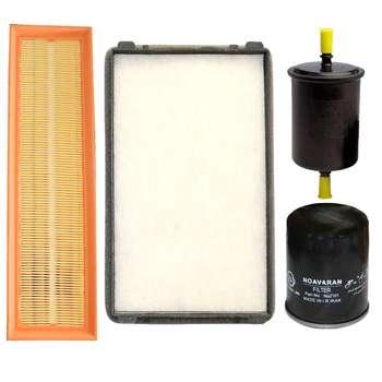 فیلتر روغن خودرو نوآوران مدل LF5 Plus مناسب برای پژو 405 به همراه فیلتر هوا و فیلتر سوخت و فیلتر کابین