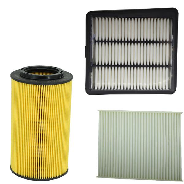 فیلتر روغن خودرو هیوندای جنیون پارتز مدل 263203C100 مناسب برای آزرا به همراه فیلتر کابین و فیلتر هوا
