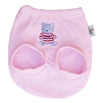 شورت نوزاد آدمک طرح خرس رنگ صورتی