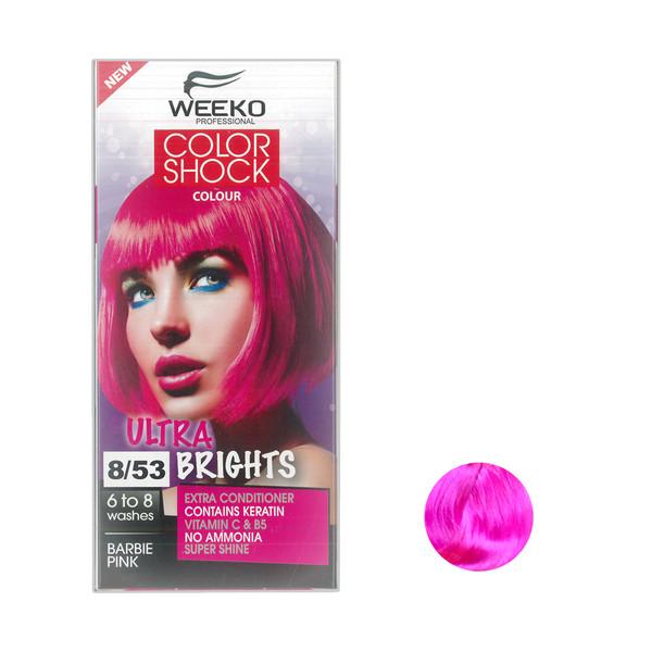 کیت رنگ مو ویکو مدل color shock شماره 8/53 حجم 80 میلی لیتر رنگ صورتی