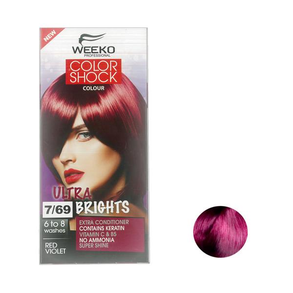 کیت رنگ مو  ویکو مدل color shock شماره 7/69 حجم 80 میلی لیتر رنگ سرخابی