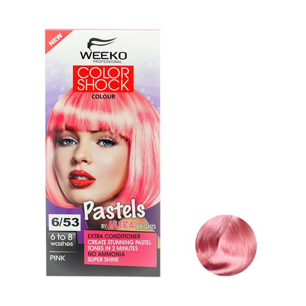 کیت رنگ مو ویکو مدل color shock شماره 6/53 حجم 80 میلی لیتر رنگ صورتی