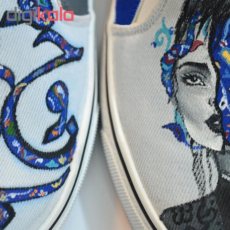 کفش روزمره زنانه دالاوین طرح وارونه کد V-6
