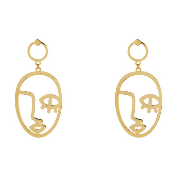گوشواره طلا 18 عیار زنانه آبستره کد GCH001