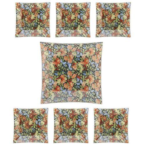 مجموعه شیرینی خوری شیشه ای گالری سیلیس مدل 180011 هفت عددی