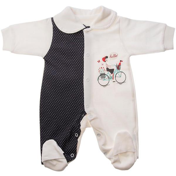لباس سرهمی تیک تاک طرح دوچرخه خالدار