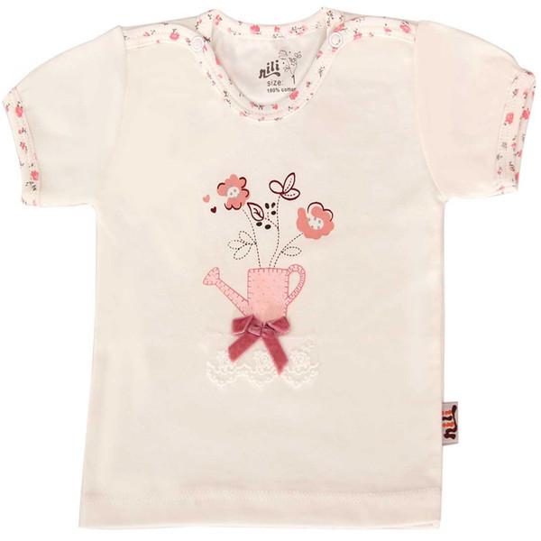 تی شرت آستین کوتاه نوزادی نیلی مدل sprinkler