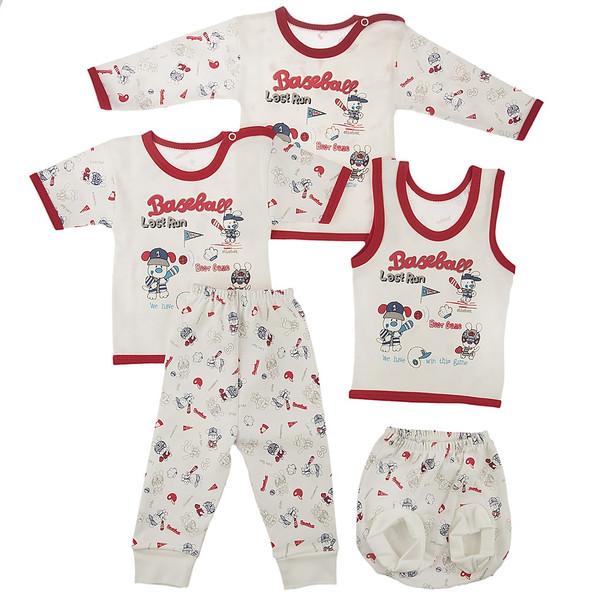 ست لباس نوزادی ندا و ساراگل مدل 3447