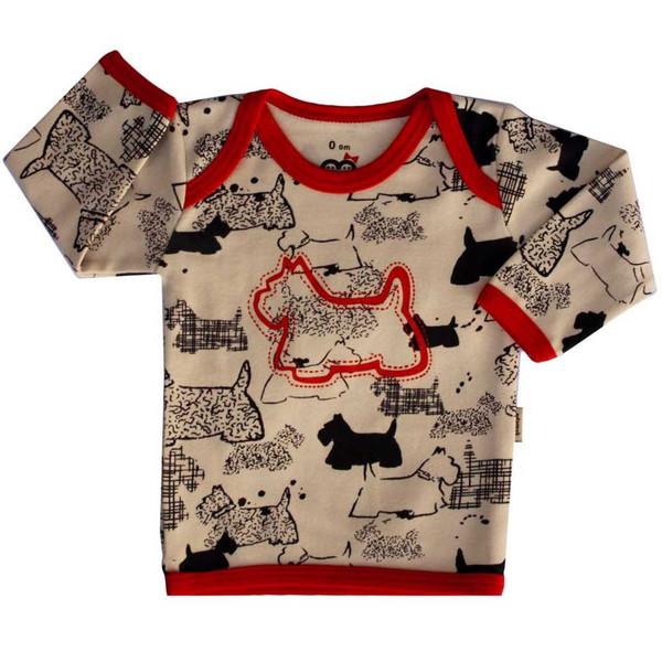 تی شرت آستین بلند نوزادی آدمک مدل Dog