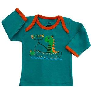 تی شرت آستین بلند نوزادی آدمک مدل Dinosaur