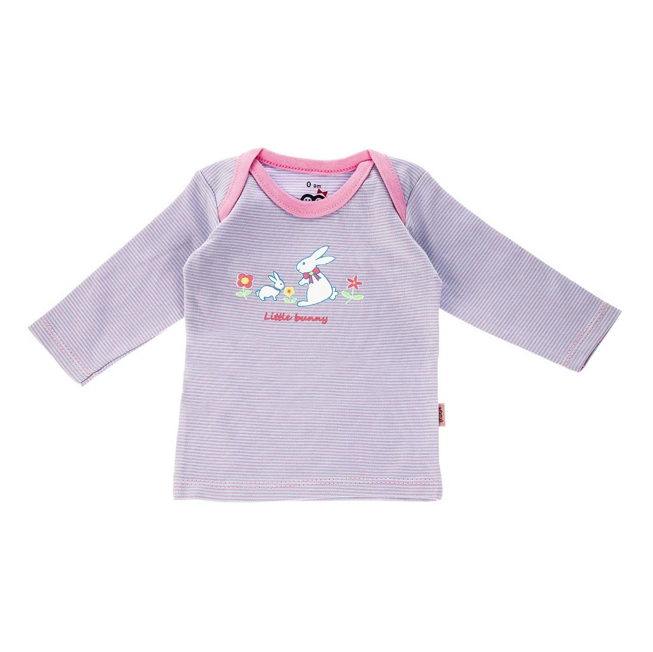 تی شرت آستین بلند نوزادی آدمک مدل Little Rabbit