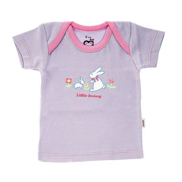 تی شرت آستین کوتاه نوزادی آدمک مدل Little Rabbit