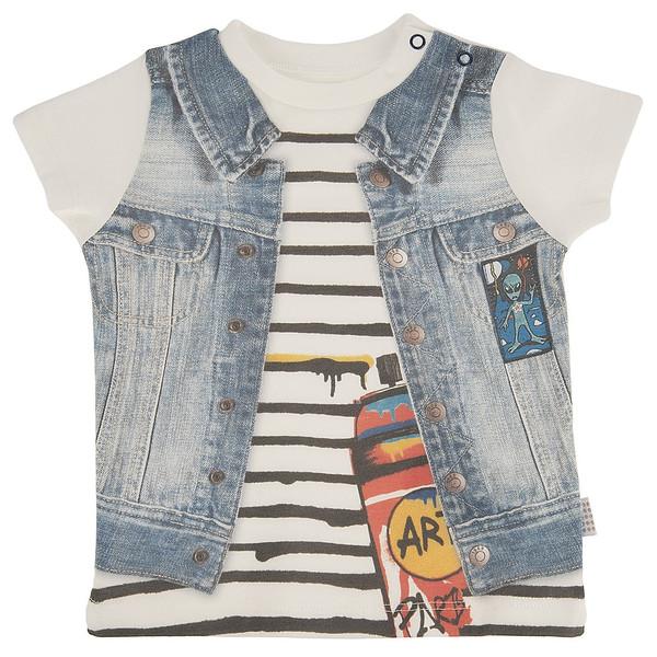 تی شرت آستین کوتاه نوزادی کیتی کیت مدل 10398