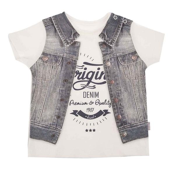 تی شرت آستین کوتاه نوزادی کیتی کیت مدل 10244