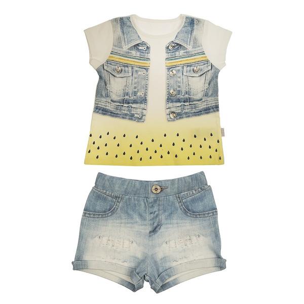 ست تی شرت و شلوارک نوزادی کیتی کیت مدل 10787