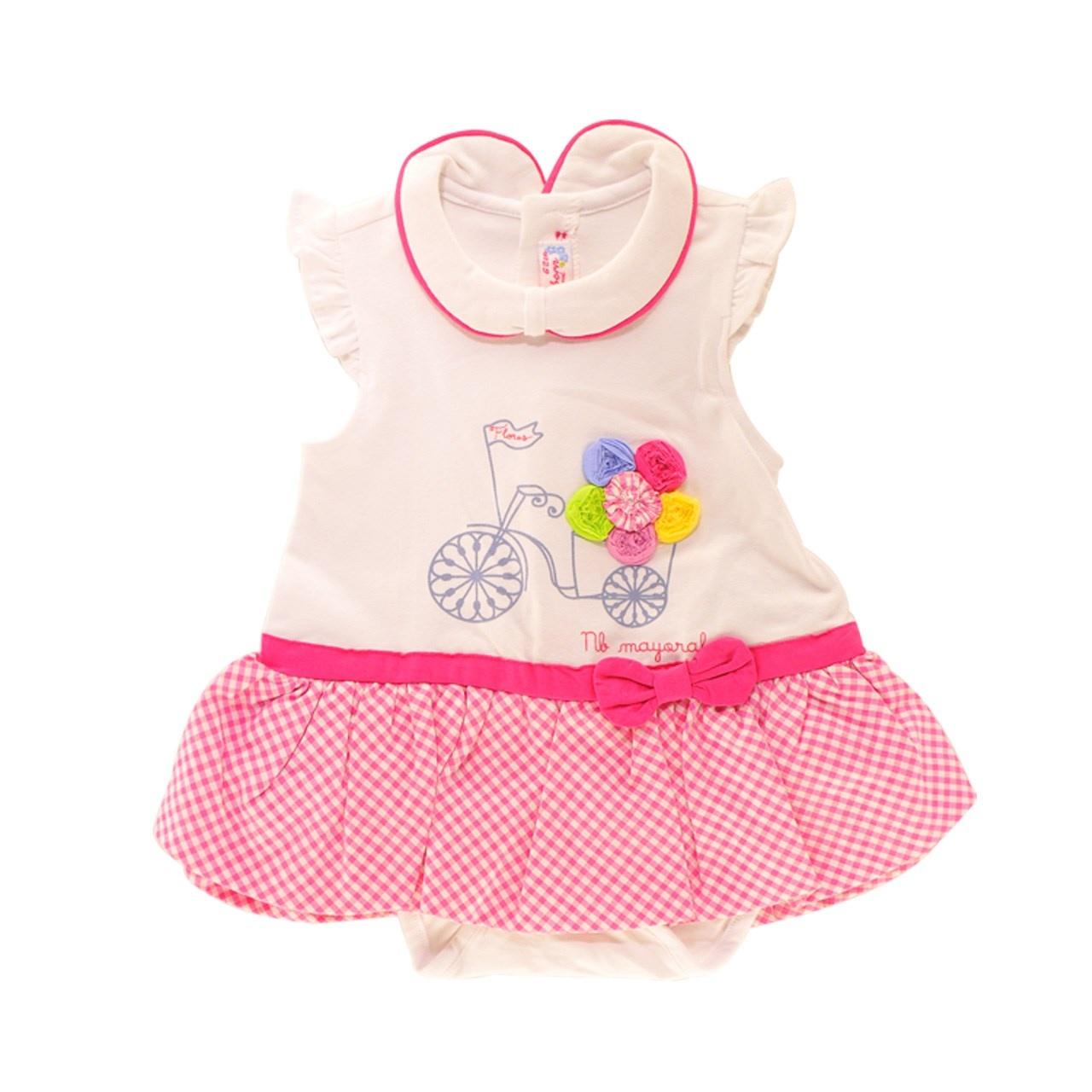 پیراهن دخترانه نوزاد مایورال مدل MA 184659