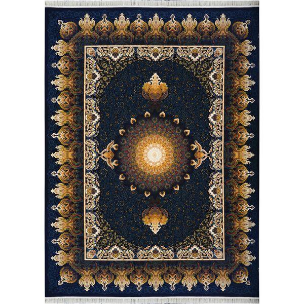 فرش ماشینی احتشامیه طرح شفق زمینه سرمه ای