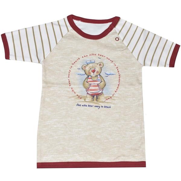 تی شرت آستین کوتاه نوزادی نیروان طرح خرس ملوان