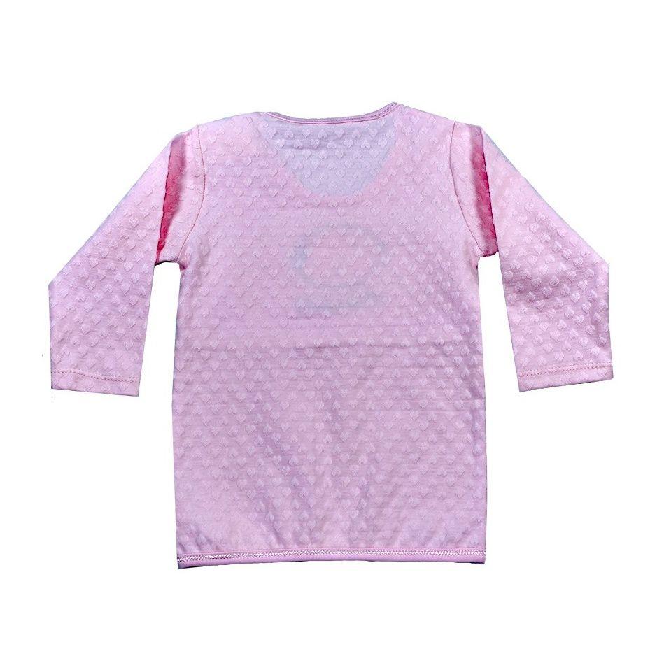پیراهن آستین بلند نوزادی نیروان طرح قلب -  - 4