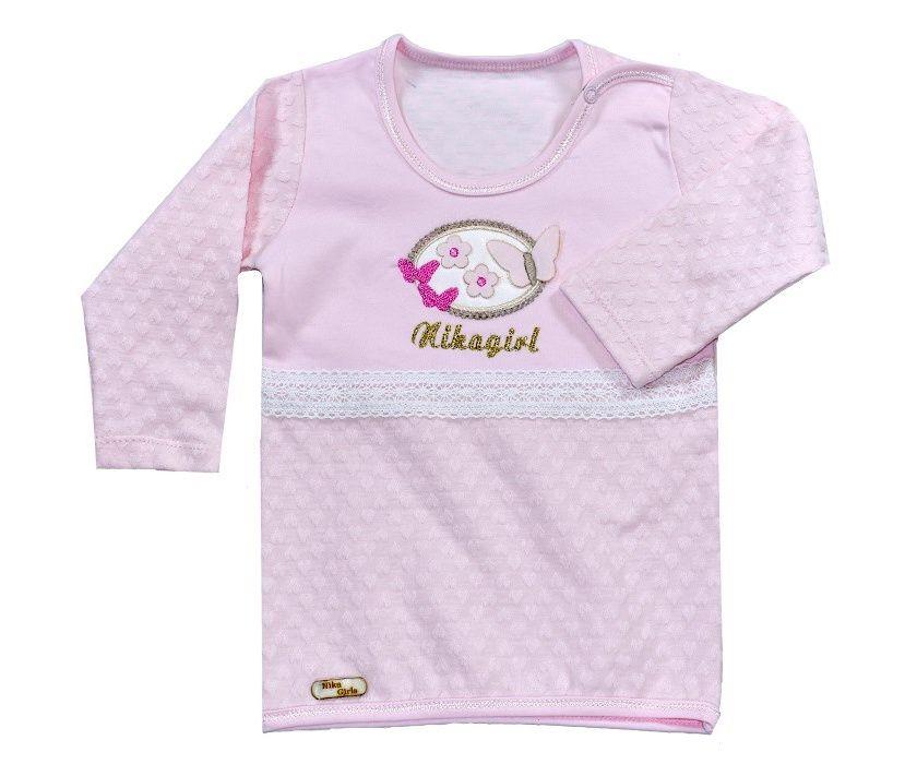 پیراهن آستین بلند نوزادی نیروان طرح قلب -  - 5