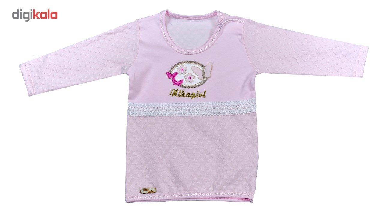 پیراهن آستین بلند نوزادی نیروان طرح قلب -  - 3