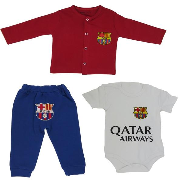 ست لباس پسرانه بی بی وان مدل بارسلونا