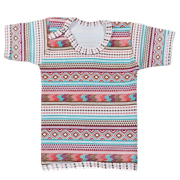 تی شرت آستین کوتاه نوزاد نیروان طرح گلیم