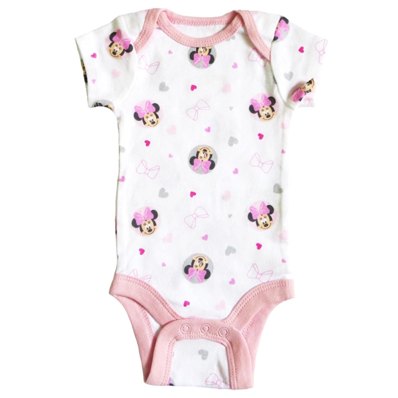 زیر دکمه دار آستین کوتاه نوزادی دخترانه دیزنی کد 45001